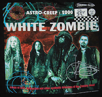 Vintage T-Shirt WHITE ZOMBIE astro-creep 2000 Rob - Size XL - 1995 but NEW!!