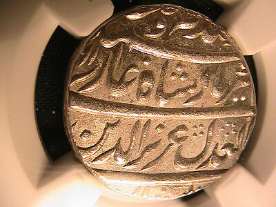 INDIA MUGHAL Alamgir II NGC MS62 Yr 1168/2 Rupee km456.1 a Bill Warden Gem Coin
