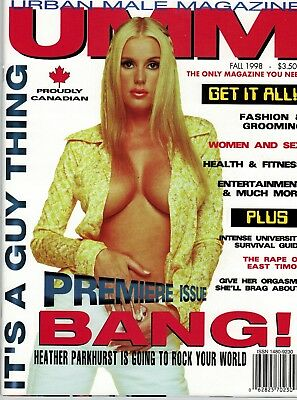 Canadian UMM Magazine 1st issue ever - Heather Parkhurst  - Fall 1998 - Mens Mag