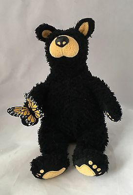 "Vintage -Bearfoots Bears Black Bear With Butterfly Plush 11"" Big Sky Carvers VGC"
