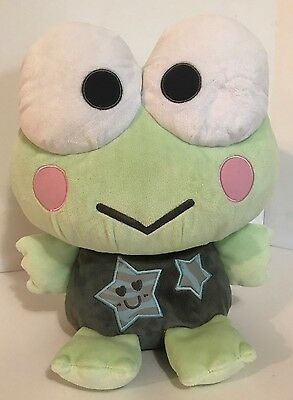 "2008 Sanrio Keroppi Plush Stars 11"" Toy Green Gray Frog Hello Kitty"