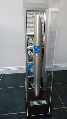 2004 ATHENS Olympic Torch - in case & signed by Jodie Henry