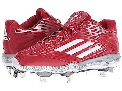 ADIDAS C77526 POWER ALLEY 3 Wmn's (M) Red/White Synthetic Baseball Cleats