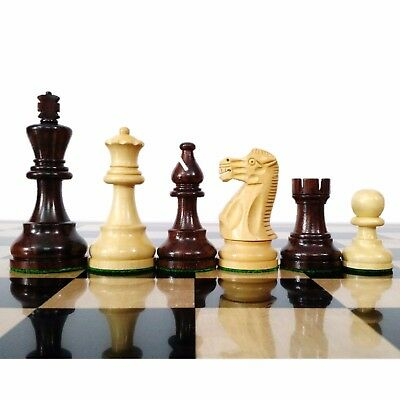 "3.9"" Classic Rosewood Staunton Weighted Chess Pieces chessmen set Extra Queens"