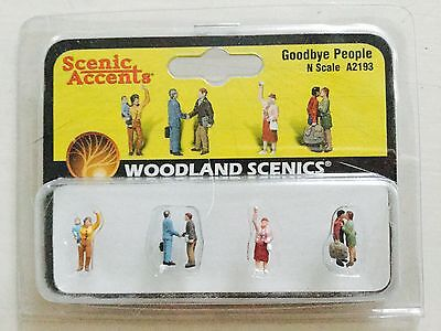 Woodland Scenics Accents 1/160 N Scale Goodbye People Item #A2193 Factory Sealed