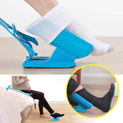 Sock Aid Slider Easy On Off Shoe Horn Pain Free No Bending Stretching Helper UK