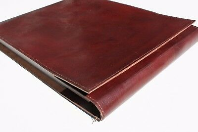Handmade Large Leather Classic  Refillable Book Journal Sketchbook - Great Gift