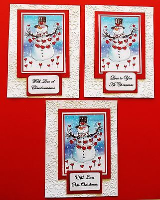 Card Toppers X 15 Pieces Lovely Printed Christmas Themed Toppers