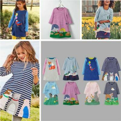 Toddler Baby Girls Kids Casual Party Long Sleeve T-Shirt Dress Skirt Clothing LG