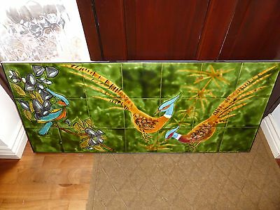 Rare Incredible Juliette Belarti  wall plaque 1960s/70s hand painted tiles