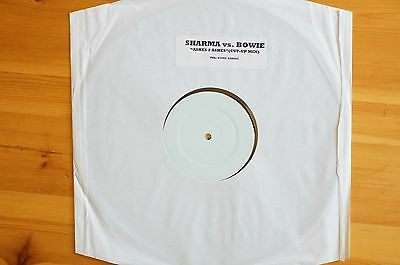 """Rare David Bowie Sharma Vs Bowie 12"""" Promo Ahshes to Ashes Cut Up Mix"""