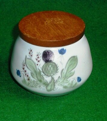 Buchan Stoneware Thistle Bluebell Decor Lidded Honey Pot
