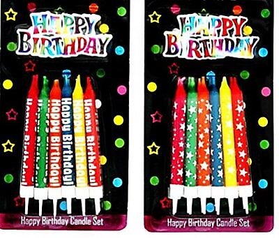 Happy birthday / Stars Designer Candle Set Cake Topper Decoration Party Cake Fun
