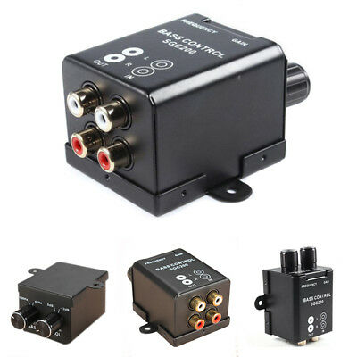 Universal Car Remote RCA Amplifier Subwoofer Equalizer Crossover Bass Controller