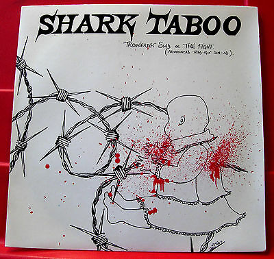 "Shark Taboo Troineann Siad(Fight) 7""PC UK ORIG 1984 Lambs To The Slaughter VINYL"