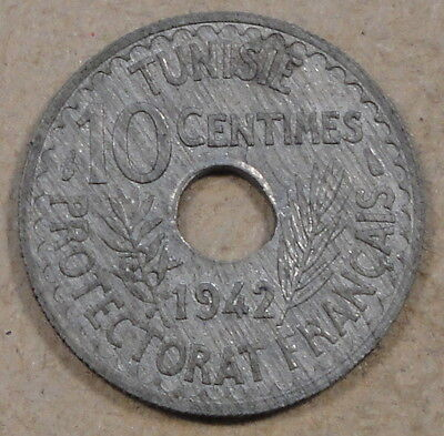 Tunisia 1942 10 Centimes Unc as Pictured