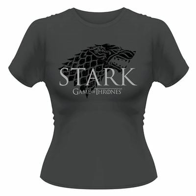 Licenza Ufficiale Donna Game Of Thrones Stark Stemma T-Shirt S-XL
