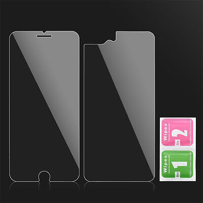 For iPhone 8 7 6 Plus 5S 9H Front and Back Tempered Glass Film Screen Protector