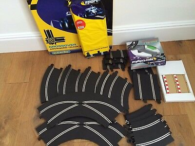 NO RESERVE - job lot scalextrix , controller, track and accessories