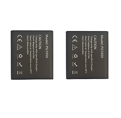 2x Genuine Eken Camera Rechargeable Batteries PG1050 Will fit the H8 and H9 Eken