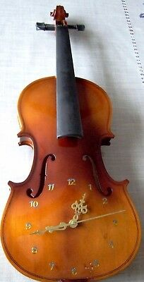 Violin Clock Silent mechanism made from a real violin Ideal present for a violin