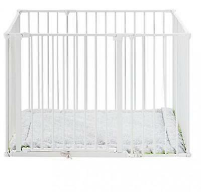 BabyDan Square Playpen with Play Mat (White)