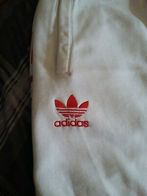 Adidas mens tracksuit white