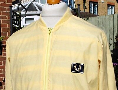 Vintage Fred Perry Yellow Bomber Jacket - L/XL - Mod Ska Scooter Casuals Skins