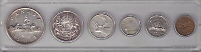 1946 Canada Complete Coin Set - Penny to Silver Dollar