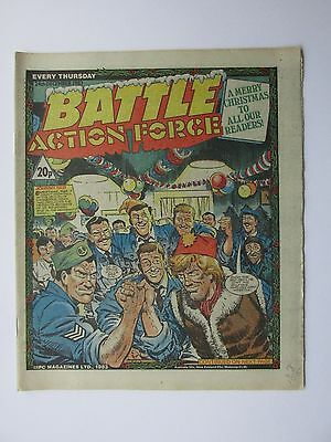 BATTLE ACTION FORCE. CHRISTMAS ISSUE!  24th DECEMBER,  1983. CHARLEY'S WAR.