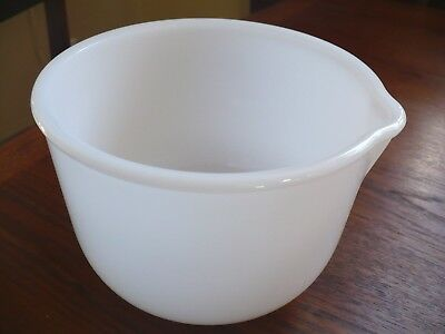 Vintage Milk Glass Bowl for Vtg Sunbeam Stand Mixer by Glasbake #7 White VGC