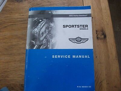 Harley Davidson Official 2003 Anniversary Sportster Work Shop Manual