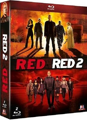 Coffret 2 Blu Ray //  RED + RED 2  //  Willis - Malkovich  /  NEUF cellophané