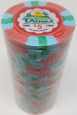 Poker Chips (25) $5 Dunes Commemorative 9 gram Clay Composite