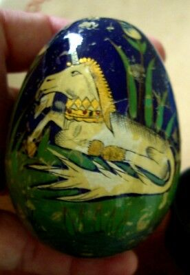 Vintage Hand Painted Eggs Unicorn 8cms long