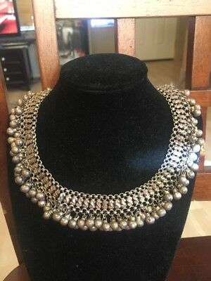 Vintage Sterling Silver Choker Necklace  Over 5 Ounces!!