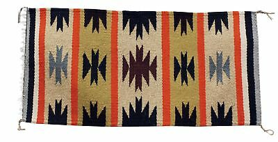 Edith Smith, Gallup Throw Rug, Navajo Handwoven, 18 in x 36.5 in