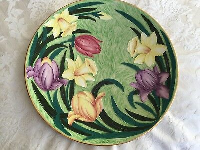 Newhall Hanley Lucien Boullemier Large Lustre Spring Flower Charger