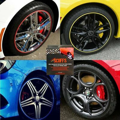 Rimblades Scuffs 4 Car Alloy Wheel Rim Trim Protectors Tyre Guard Pinstripe Line