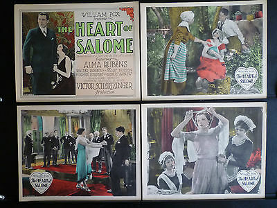 1927 The Heart Of Salome - Rare Complete 8 Lobby Card Set - Silent Melodrama