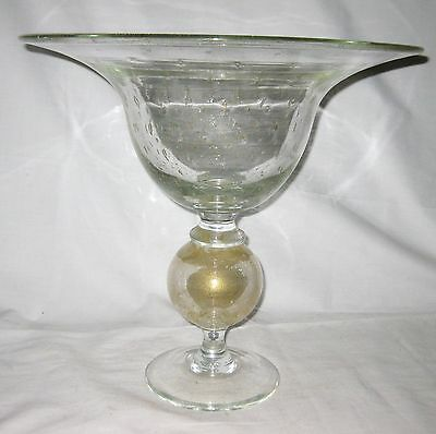 "HUGE PAIRPOINT  ART GLASS BOWL    15"" tall"