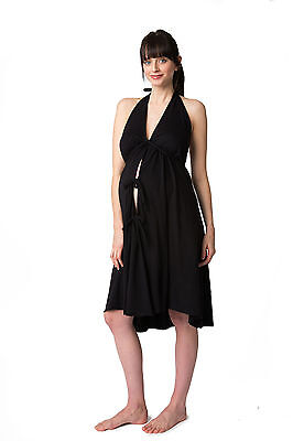 Pretty Pushers Black Labor&Delivery/Hospital/Birthing Gown Pre Preg Size 2 - 16