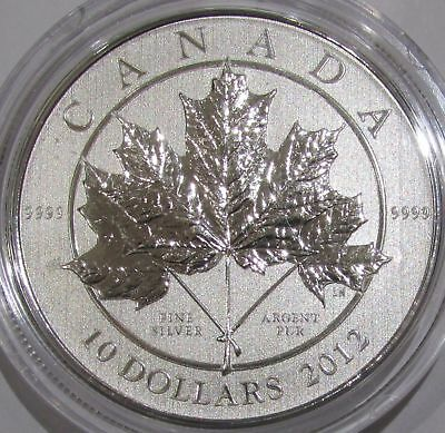 2012 Canada Maple Leaf Forever $10 Fine Silver Coin
