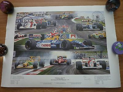 Andrew Kitson 1992 Formula 1 Ninety-two Limited Edition  Print