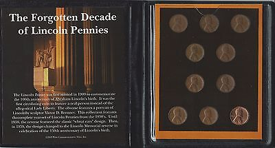 United States - Forgotten Decade Of Lincoln Pennies Set By First Commemorative
