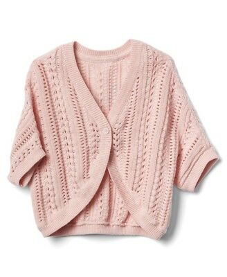 Gap Baby Girl Open Stitch Cocoon Cardigan Sweater Knit Pink Size 18-24 Months
