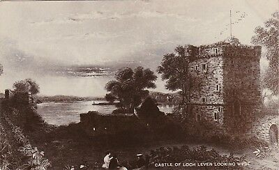 Castle Of Loch Leven looking West Engraving, KINROSS, Kinross-shire RP