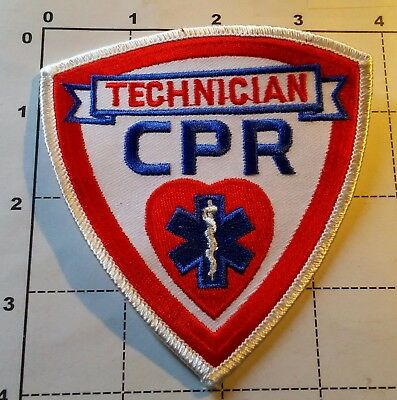 CPR ETM EMS Paramedic Medical Techinician Officer Patch