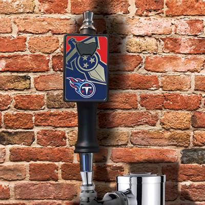 Tennessee Titans beer tap handle with removable bottle opener