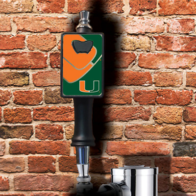 Miami Hurricanes beer tap handle with removable bottle opener